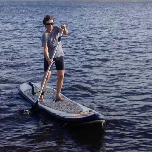 With My Paddle Board Across the Straits